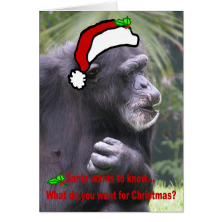 What do you want for Christmas? Greeting Card
