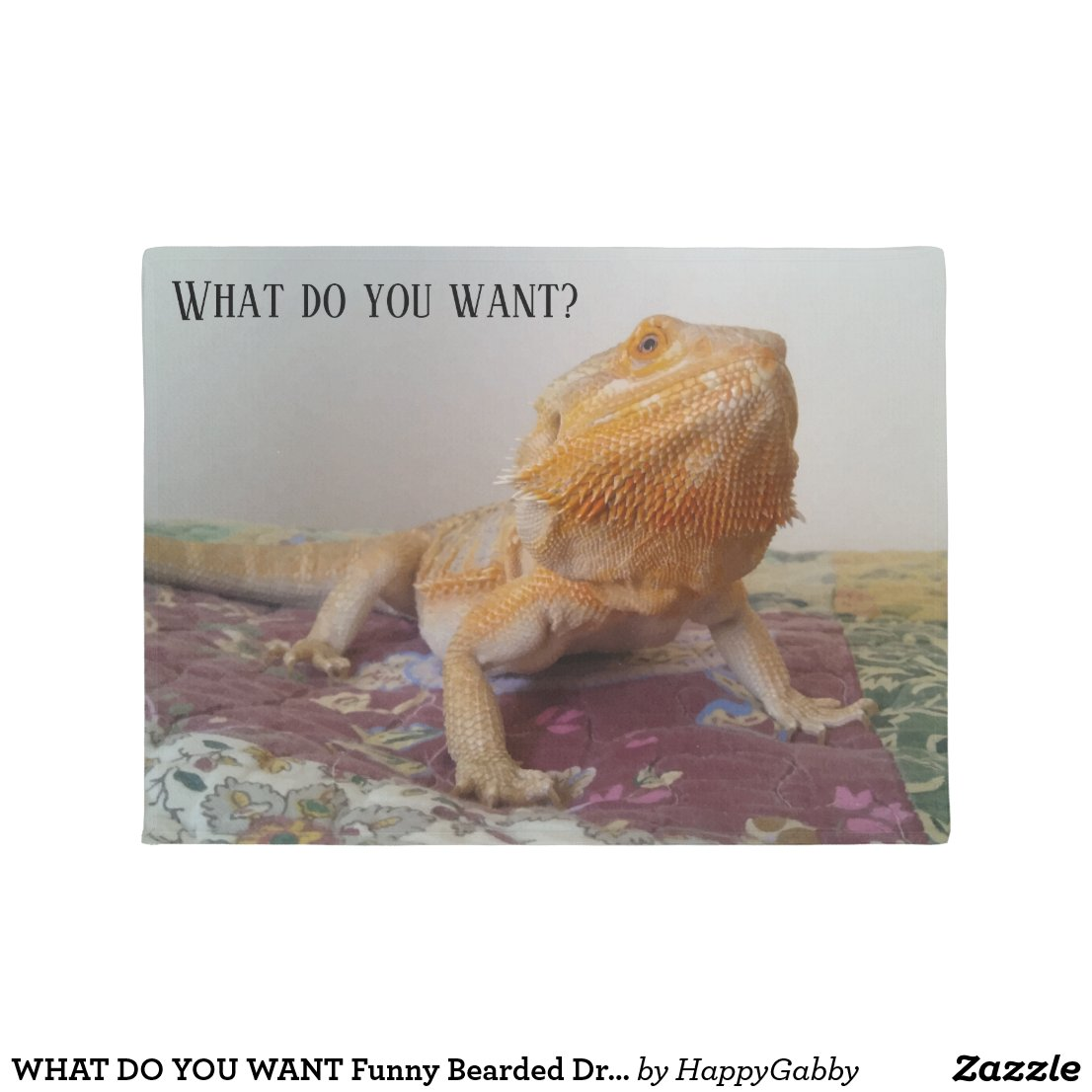 Cute Bearded Dragon Doormat