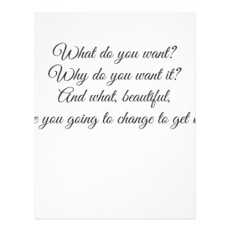 What do you Want? Letterhead