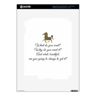 What do you want unicorn? decals for iPad 3