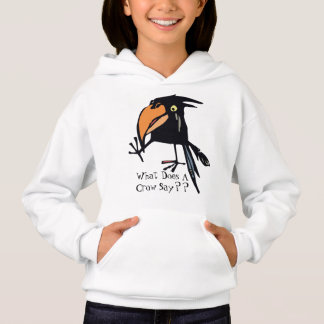 What Does A Crow Say? Hoodie for Kids