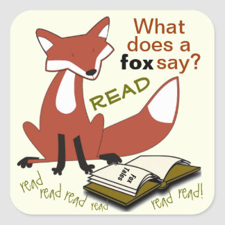 What Does a Fox Say Literacy Stickers