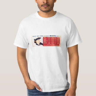 What Does A WAVE Get?, WWII Navy Poster Tee