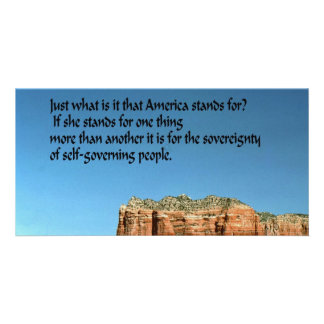 What does America stand for? Card