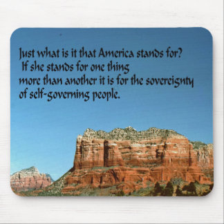 What does America stand for? Mousepads