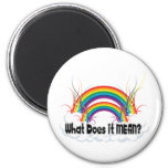 WHAT DOES IT MEAN? DOUBLE RAINBOW FRIDGE MAGNET