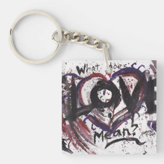 What does Love mean? keychain