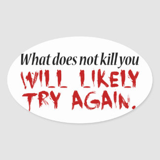 What does not kill you... oval sticker