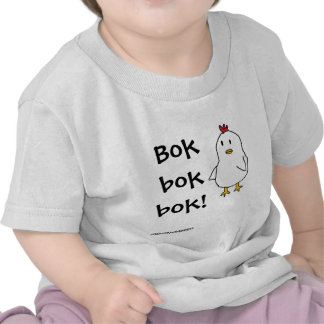 What does the chicken say? shirts