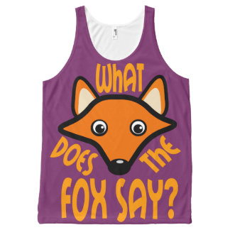 What Does the Fox Say All-Over-Print Tank Top