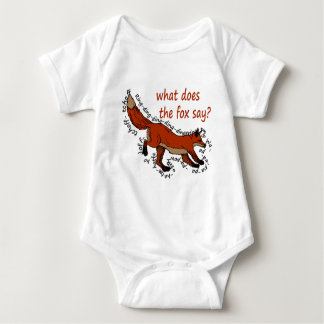 What does the fox say? baby bodysuit