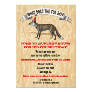 What does the fox say Birthday party invitation