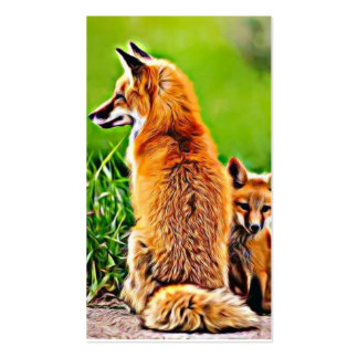 What does the fox say? business card templates