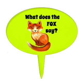What Does the Fox Say Clothing and Gifts Cake Topper