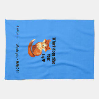 What Does the Fox Say Clothing and Gifts Kitchen Towel
