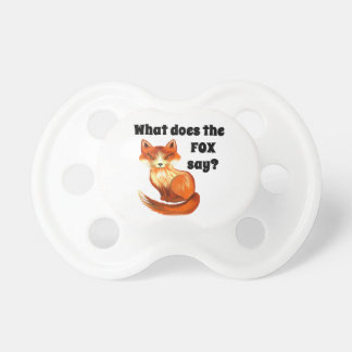 What Does the Fox Say Clothing and Gifts Pacifier