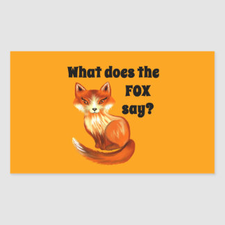 What Does the Fox Say Clothing and Gifts Sticker