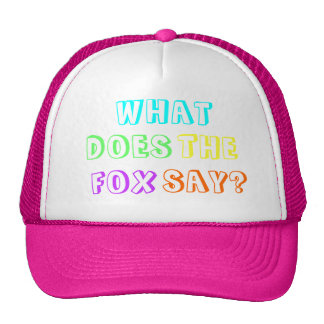 What does the fox say Fashion Cap Mesh Hats