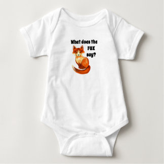 What Does the Fox Say Funny Childrens Tshirts