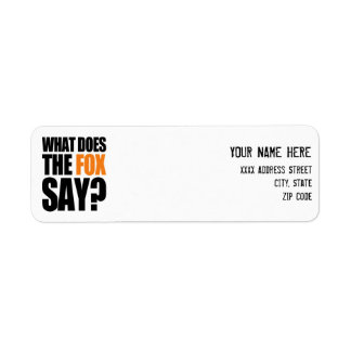 What Does The Fox Say Label