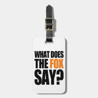 What Does The Fox Say Travel Bag Tags
