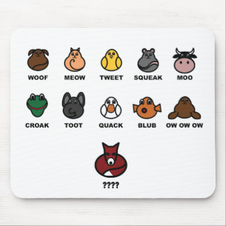 What does the fox say? mouse pad