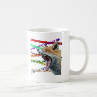 What Does the Fox Say? Coffee Mugs