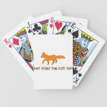 what does the fox say playing cards