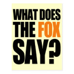 What Does The Fox Say Postcard