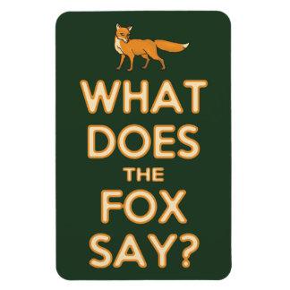 What Does The Fox Say? Premium Flexi Fridge Magnet