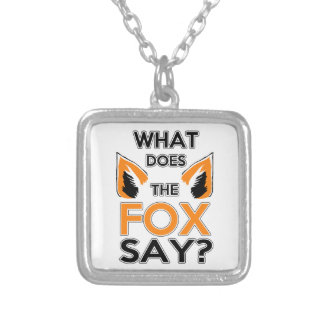 What Does The Fox Say ? Square Pendant Necklace