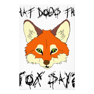 what does the fox say stationery