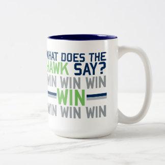 What Does the HAWK Say? Two-Tone Coffee Mug
