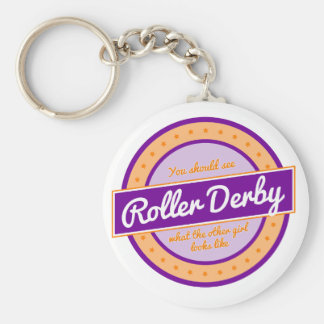 """""""What does the other girl look like"""" Roller Derby Keychain"""