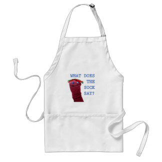 What Does The Sock Say? Adult Apron