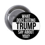 What Does Voting Trump Say About You Pinback Button