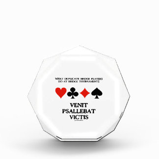What Duplicate Bridge Do Venit Psallebat Victis Acrylic Award