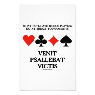 What Duplicate Bridge Do Venit Psallebat Victis Stationery