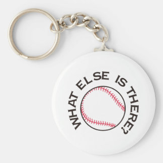 What Else is There? Basic Round Button Keychain