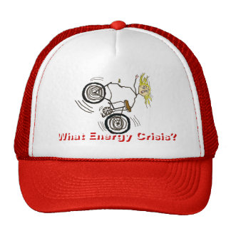 What Energy Crisis? Ride a Bike! Mesh Hat