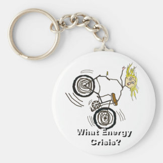 What Energy Crisis? Ride a Bike! Basic Round Button Keychain