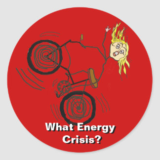 What Energy Crisis? Ride a Bike! Classic Round Sticker