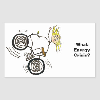 What Energy Crisis? Ride a Bike! Rectangular Sticker