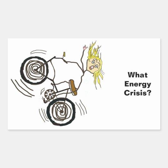 What Energy Crisis? Ride a Bike! Rectangular Sticker