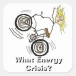 What Energy Crisis? Ride a Bike! Square Sticker
