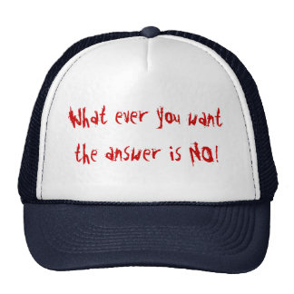 WHAT EVER YOU WANT TRUCKER HAT
