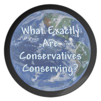 What Exactly Conservatives Conserving - Earth? Melamine Plate