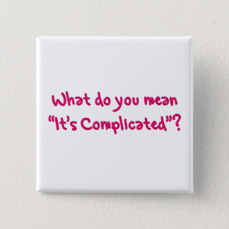 What exactly does it's complicated mean button