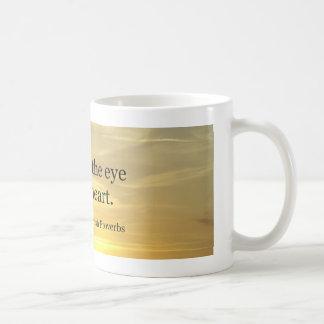 What fills the eye coffee mug