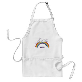 what, fish cool graphic design adult apron